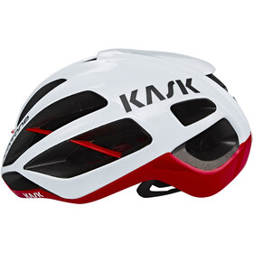 Kask Protone Casque, white/red